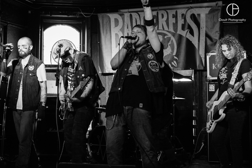 Kringer and the Battle Katz live @ Badger Fest 2017. Photo Credit: Occult Photography