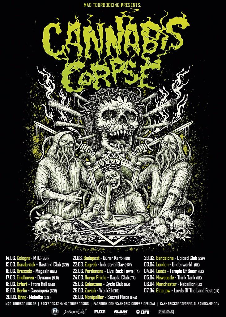 Cannabis Corpse European Tour 2018