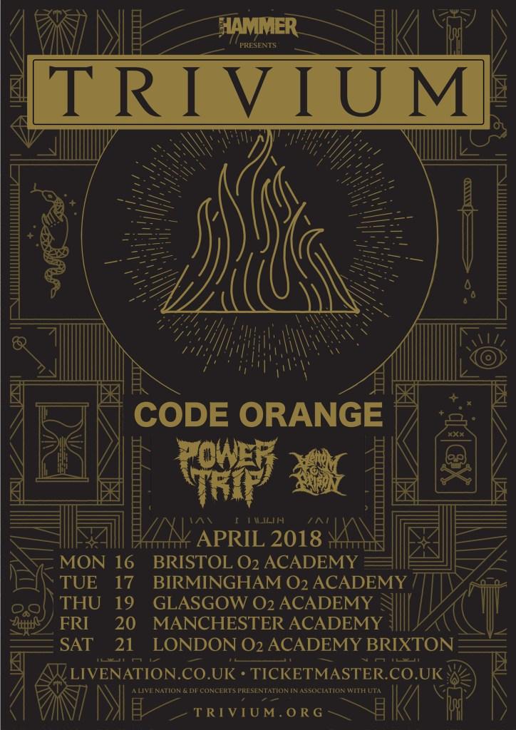 Trivium UK tour 2018