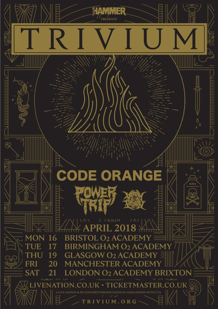 Trivium UK tour 2018
