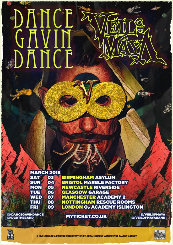 Veil of Maya/Dance Gavin Dance UK Tour 2018