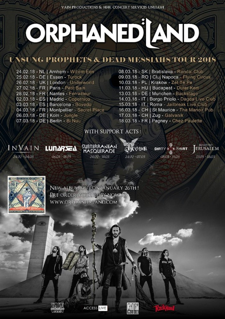 Orphaned Land European Tour 2018