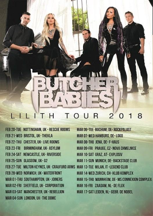 Butcher Babies European Tour 2018