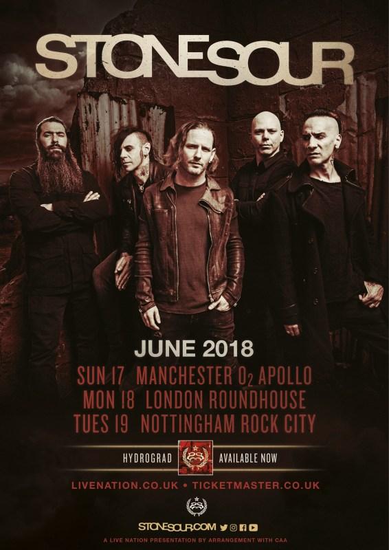Stone Sour UK Tour 2018