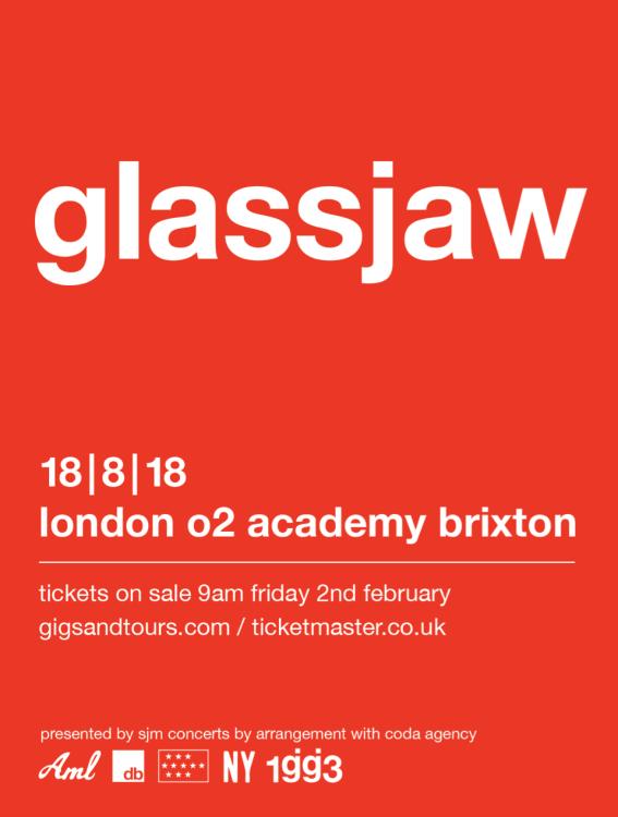 Glassjaw - Brixton Academy 2018