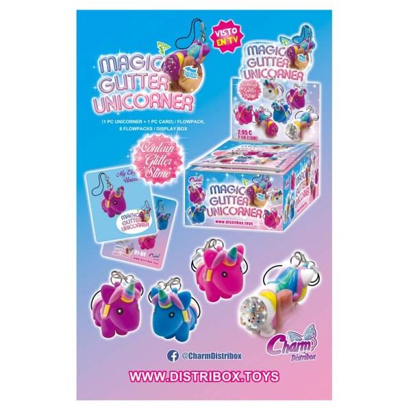 Imagen Colección Magic Glitter Unicorner   Charm Distribox