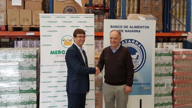 Mercadona distribuye  4.000 kilos de productos comestibles al Banco de Alimentos de Navarra