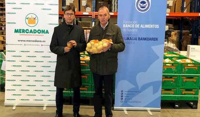 Mercadona dona 5.000 productos de primera necesidad al Banco de Alimentos de Navarra