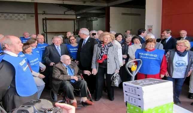 La Reina Sofía visita el Banco de Alimentos de Córdoba