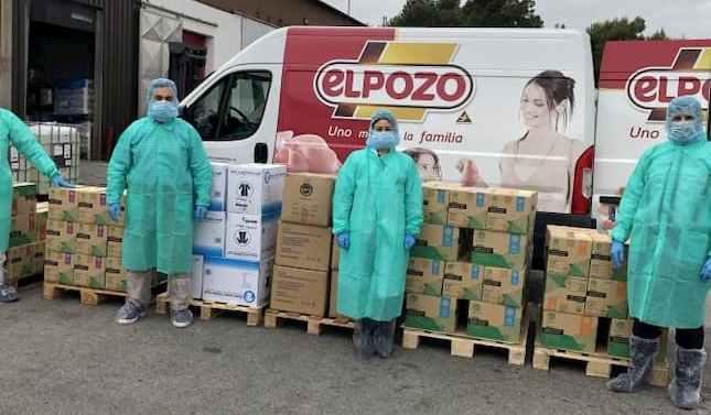 El Pozo Alimentación dona al Ministerio de Sanidad un millón de unidades de protección sanitaria