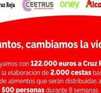 Las empresas de Auchan donan 122.000 euros a Cruz Roja para la compra de alimentos básicos