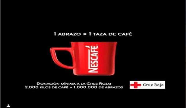 Nescafé convierte los abrazos en tazas de café