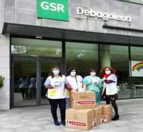 Eroski dona 10.000 mascarillas a la cooperativa vasca GSR dedicada a la atención de personas mayores