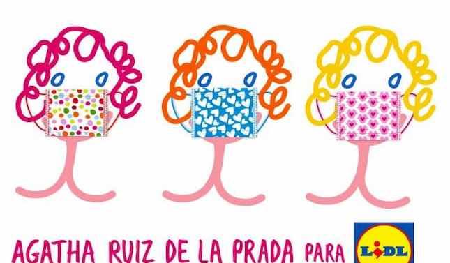 Lidl y Agatha Ruiz de la Prada lanzan su primera colección de mascarillas solidarias
