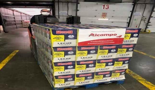 Alcampo y Pascual donan 70.200 litros de leche a la Federación Española de Bancos de Alimentos