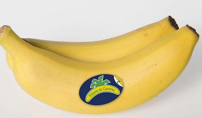 Plátano de Canarias, primera fruta de España que ofrece un etiquetado nutricional