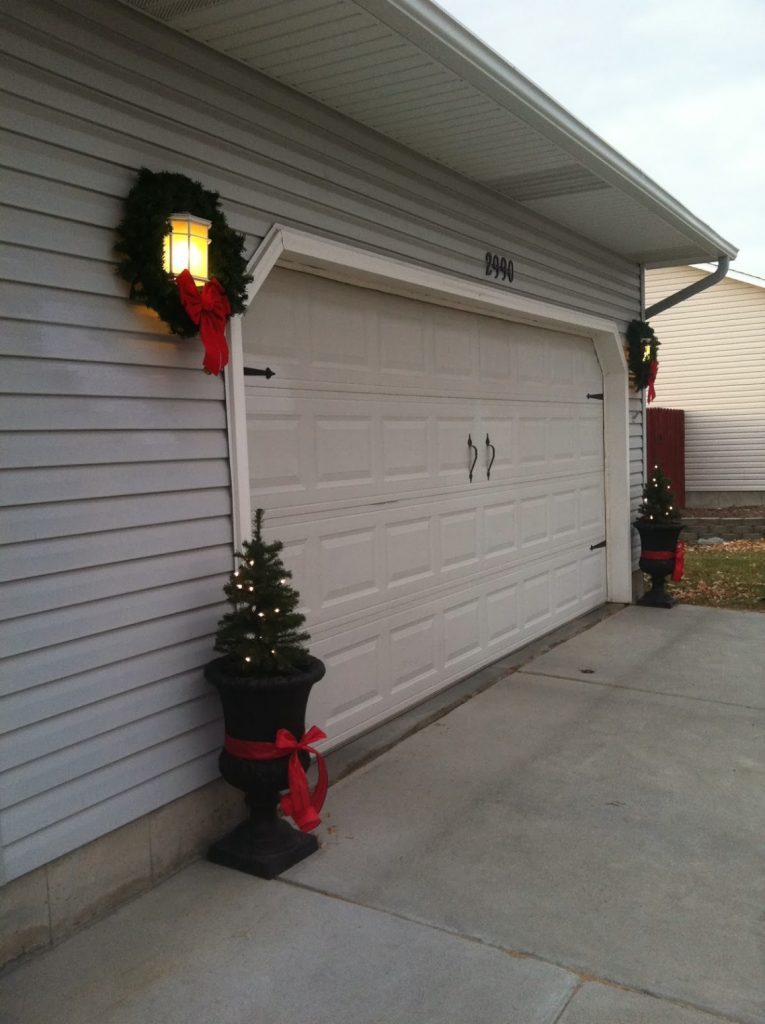 Holiday Home Decorating - Garage Door Decor Completes the ... on Garage Decoration  id=52825