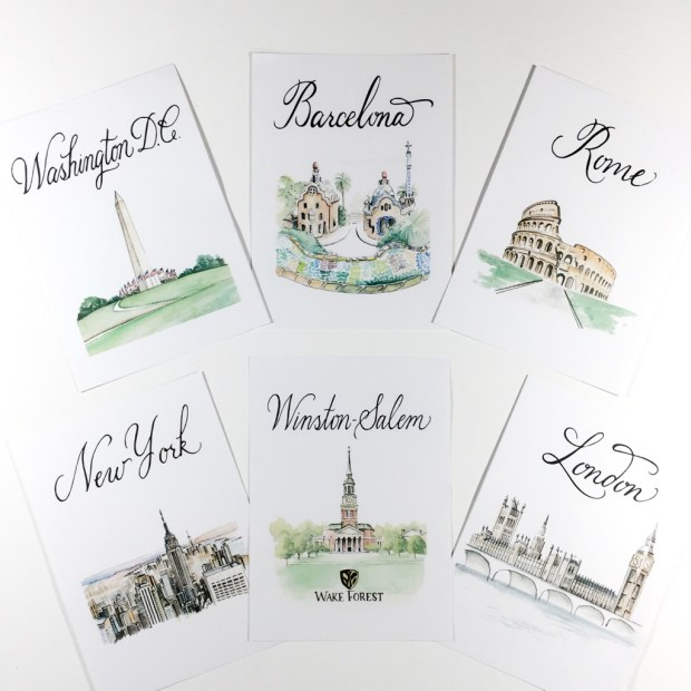 8 City Table Numbers