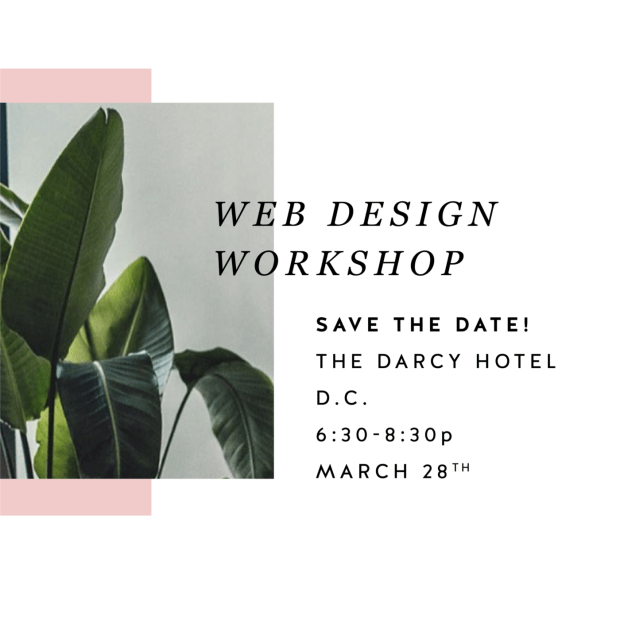 District Bliss + June Mango Design DIY Workshop LEARN HOW TO CREATE A KILLER WEBSITE DURING THIS 2-HOUR WEB DESIGN WORKSHOP HOSTED BY YOUR PERSONAL WEB DESIGN EXPERT, KALI EDWARDS FROM JUNE MANGO DESIGN