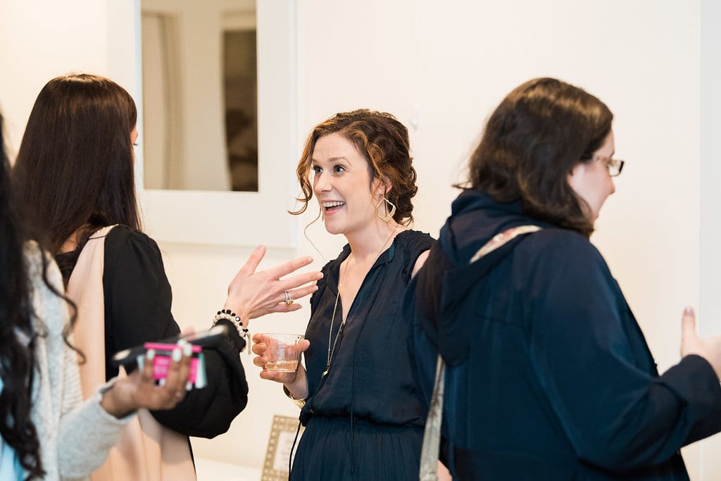 District Bliss founder Sara Alepin enjoying networking at a Vendor Social in Annapolis, MD