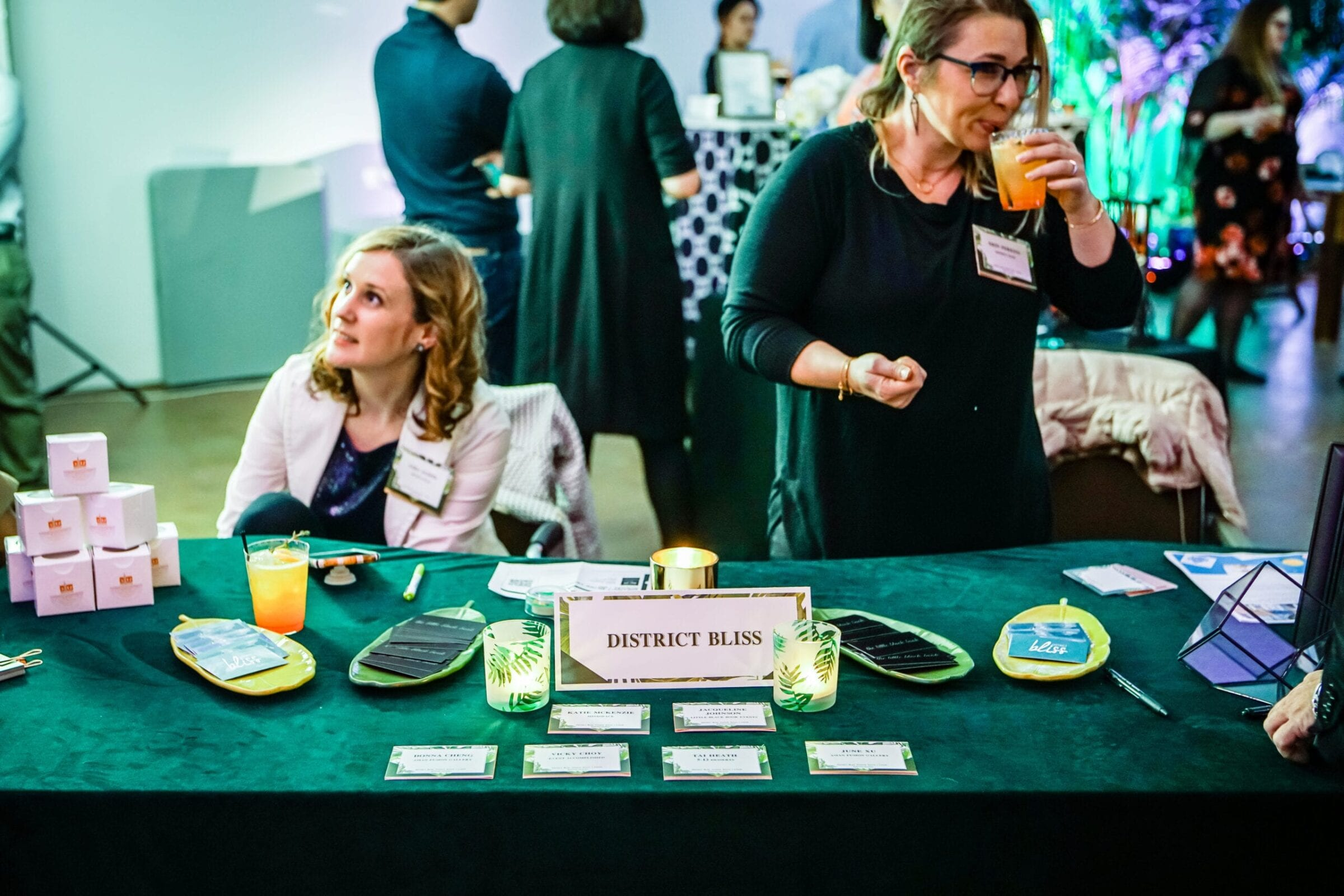 The District Bliss team supports small businesses, creates a community of quality connections for referrals and clients, brings people together, and makes everyone feel welcome at their Vendor Socials - Networking Events