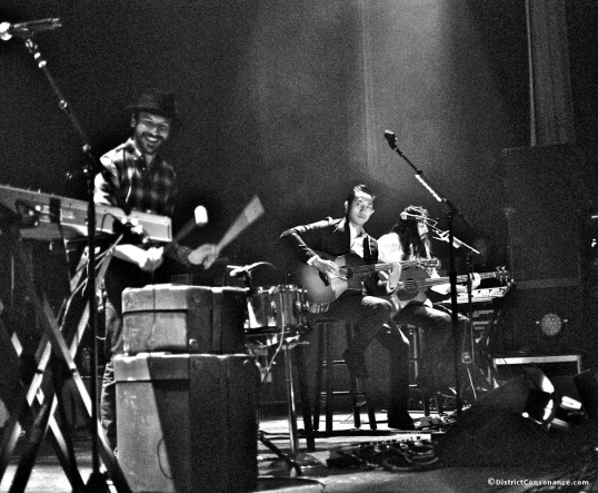 Daren Taylor forgoes the drum kit for some improvised percussion during a few acoustic songs at the Lincoln Theater.