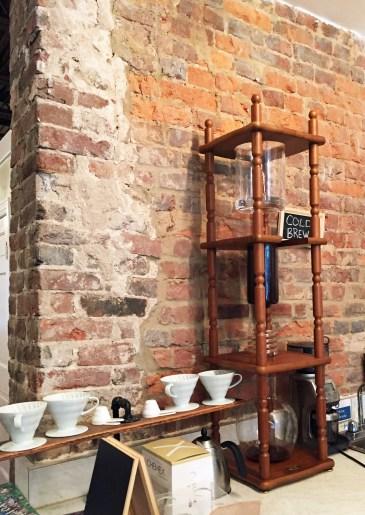 Manual brewing station at Old Town's Dolci Gelati