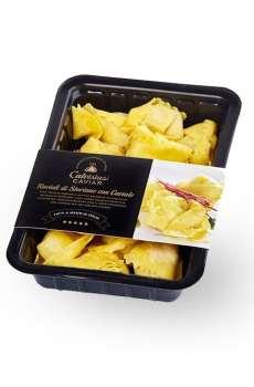 raviolis d'esturgeon, ravioli esturgeon caviar, ravioli calvisius lyon