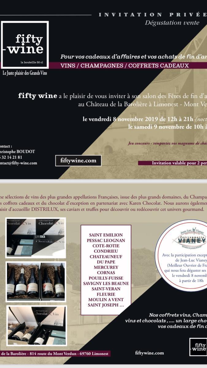 Salon Fifty-Wine novembre, château de la barollière limonest, salons vins caviars limonest