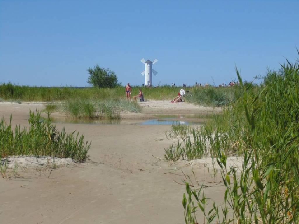 Beach in Swinoujscie Poland