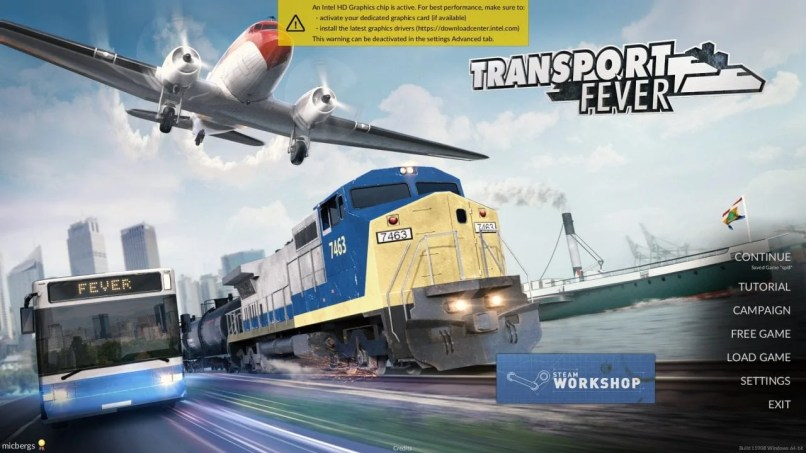Transport Fever Main Menu