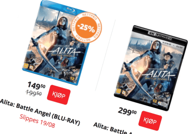 Alita Battle Angel is Finally coming to Blu Ray