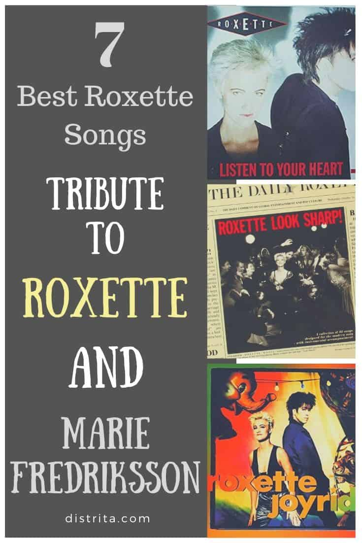 tribute to roxette and marie fredriksson