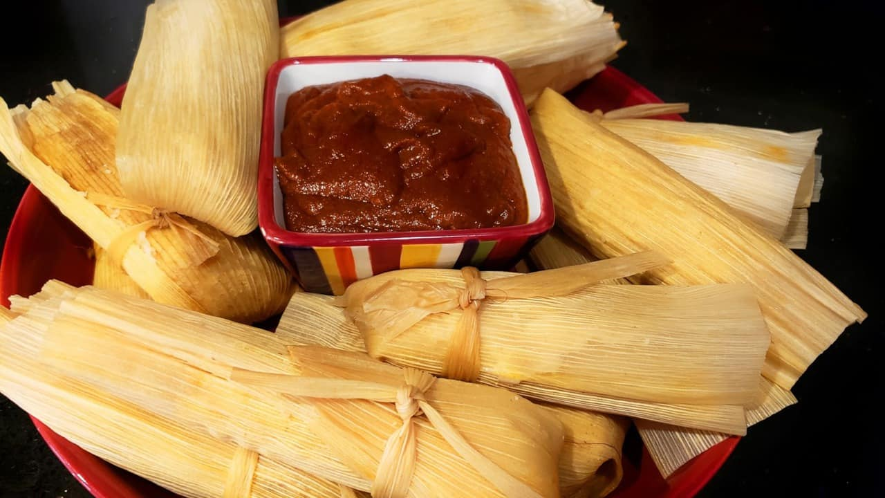 chipilin tamales kitchen recipe with red sauce.jpg