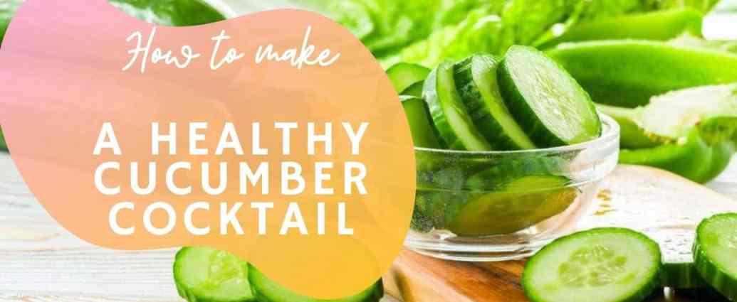 cucumber summer drink for warm days recipe