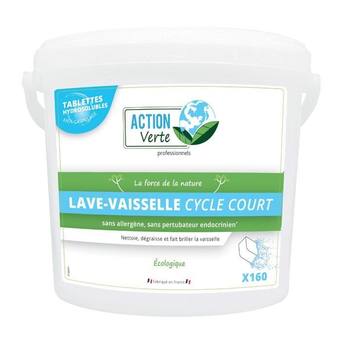 Tablettes lave vaisselle cycle court Action Verte