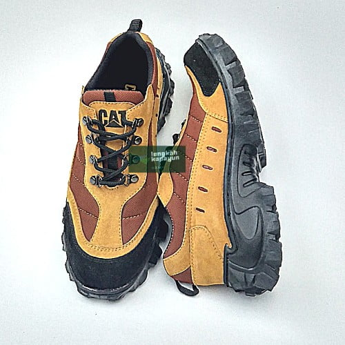 Sepatu Sefty Pria Safety Shoes Ujung Besi Tan 39-44