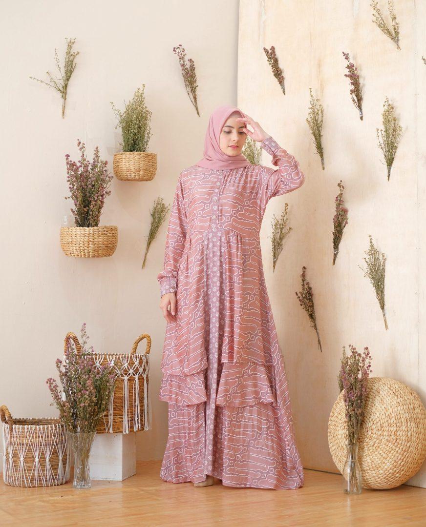 Catalia Batik - Calyta Dress Series 3 Pink Nude