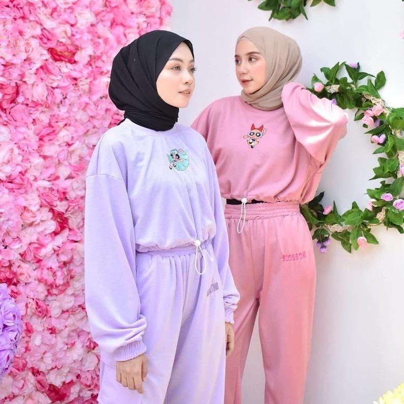 Fashion Wanita   Setelan Powerpuff Girls Babyterry