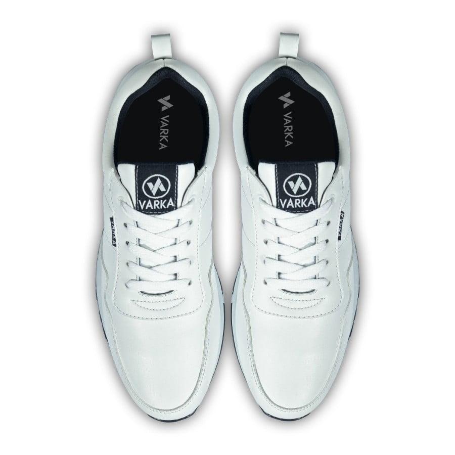 Sepatu Sneakers Pria V 4041 Brand Varka Sepatu Olahraga Warna Putih
