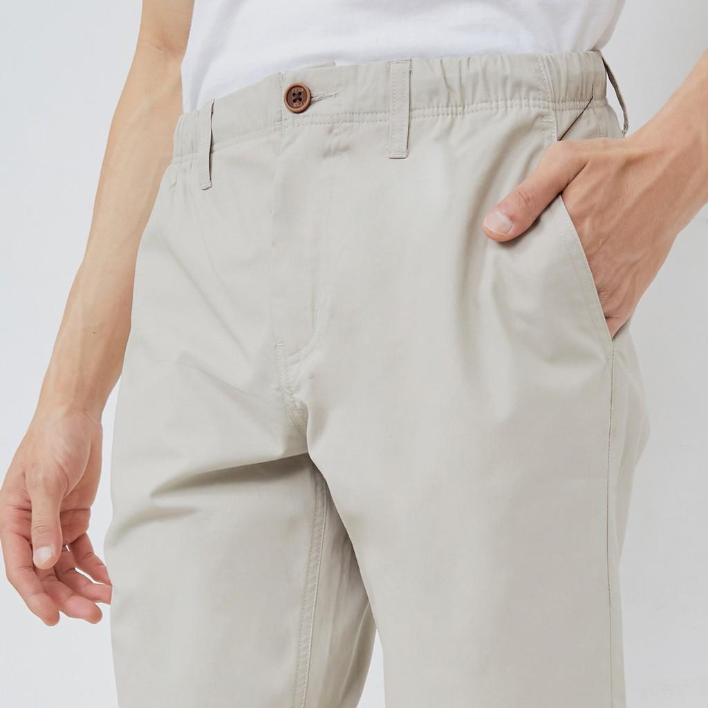 M231 Celana Pendek Pria Zipper Beige