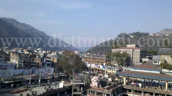 View of Mandi Town Himachal Pradesh
