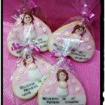 galletas corazpn primera comunión detalle regalo