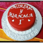 Tarta aniversario roja 1