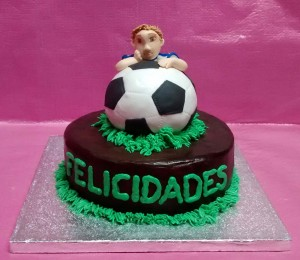 tarta chocolate balon futbol real madrid