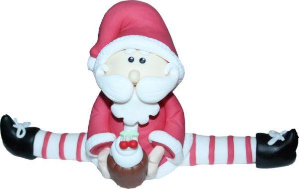 Modelado Papa Noel en fondant