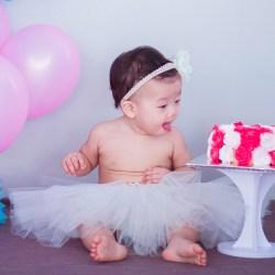 Smash cake ditartas