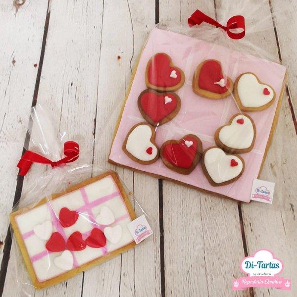 galletas 3 en raya amor