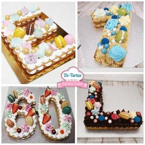 letter number cake ditartas