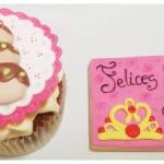 desayuno personalizado cupcake y galleta decorada